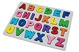 Afunti Puzzle en Bois ABC Alphabet Jouet Éducatif Apprentissage 26 Alphabets pour Enfants