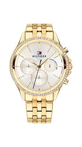 Tommy Hilfiger Damen Multi Zifferblatt Quarz Uhr mit Paqué or Armband 1781977