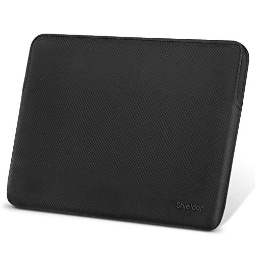 SHIELDON Laptop Tasche, 13-13,3 Zoll Sleeve Hülle, Schutzhülle Wärmeableitung, Wasserabweisende Stoßfeste Laptophülle Kompatibel mit MacBook Air Retina/MacBook Pro Retina/Surface Laptop2, Schwarz