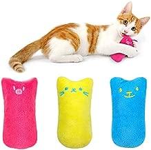 AINOLWAY Interactive Cat Catnip Toys Funny for Kitten Kitty Cat Kicker Teething Chew Playing 3 Pcs (Catnip Toy)