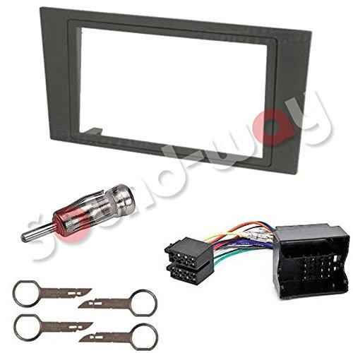 Sound-way 2 DIN Radiopaneel Frame Autoradio, Antenne Adapter, ISO Aansluitkabel, Demontage Sleutels ondersteuning voor Ford Mondeo