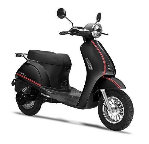 Elektroroller LuXXon E3100LI - Elektro Scooter mit 2000 Watt Bosch Motor, max. 25 km/h, Reichweite bis zu 65 km, schwarz