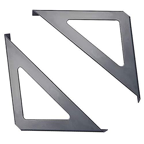 SAAQZ Soportes De Estante Pared Metálicos Negros El Soporte Triangular Se Puede Colocar Encima O Debajo del Estante con Accesorios De Montaje(Size:190 * 190mm)