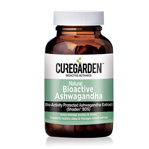 Curegarden Natural Ashwagandha Tablets Supplement that helps in Stress, Anxiety Relief & General Wellness Bioactive Root Extract 160 mg 60 Capsules