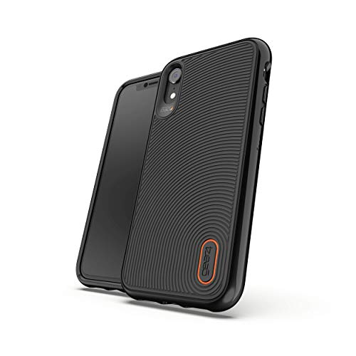 Gear4 Battersea Hardback Case with Advanced Impact Protection [ Protected by D3O ] with Reinforced Back Protection, Slim Design - Made for Apple iPhone XR - Black (33005)