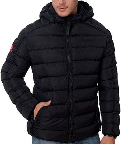 Geographical Norway Piumino Beckam Uomo Jacket Giubbotto Imbottito Men Anapurna -Nero-S