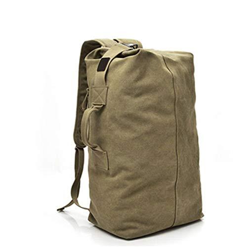 Taktischer Rucksack Große Militärbeutel, 30l Reise Wandern Camping Army Rucksack Canvas Eimer Schulter Sporttasche Big and Khaki