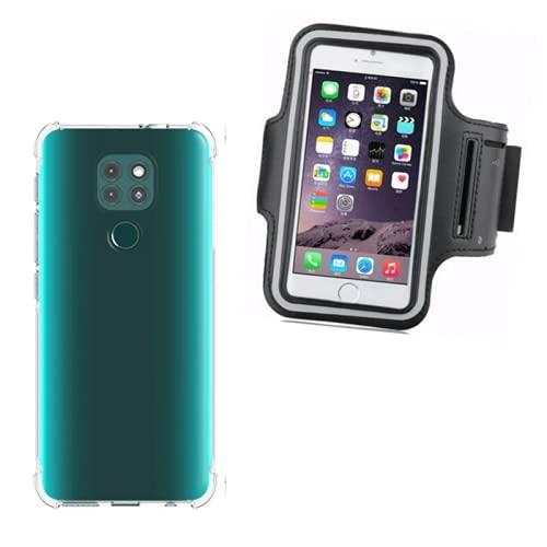 Kit Capa Antichoque Silicone Reforçada + Capa De Braço Suporte Braçadeira De Celular Compatível Motorola Moto G9 Play