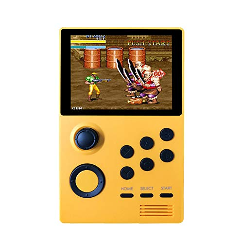 A19 Android Supretro Draagbare Spelcomputer IPS Scherm Built-In 3000 + Games 30 3D Games Wifi Download,Yellow