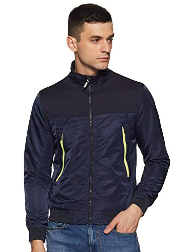 United Colors of Benetton Men's Quilted Jacket (19A2FSIC3015I_902_L_Navy_L)
