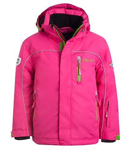Trollkids wasserdichte Ski- / Schneejacke Holmenkollen XT, Pink/Grün, Größe 110