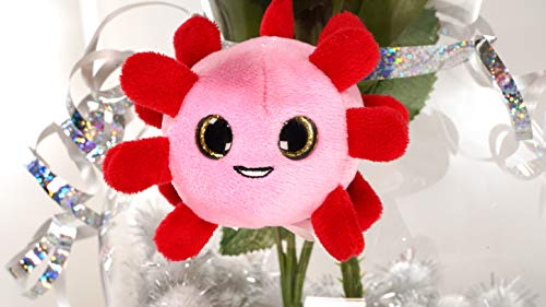 Rona Cuties Pink Stress Ball for Floral Arrangements and Bouquets with Loop for securing - Unique Weird Gift for Weddings, Valentines Day