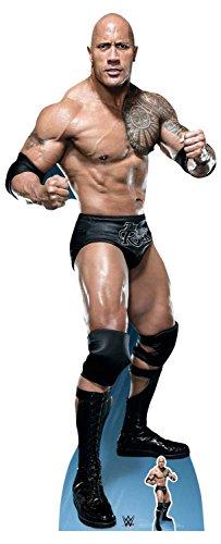 """Offizieller Starschnitt des WWE-Wrestlers Dwayne """"The Rock"""" Johnson (""""Just Bring It""""), Pappaufsteller in Lebensgröße, Größe: 195 cm"""