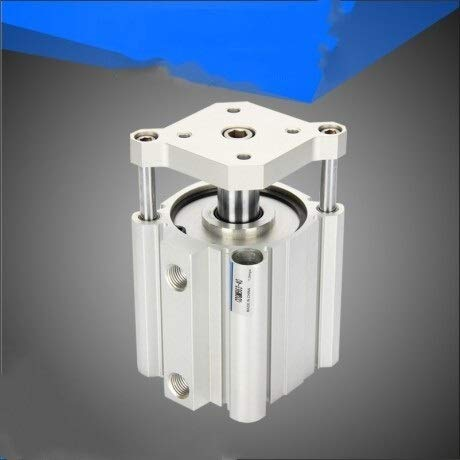 NAWQK Cilindro de Aire de Tipo SMC CQMB/CDQMB Bore 50mm Stroke 5/10/15/20/25 / 30mm Guía de Varilla de Doble actuación de Doble acción Cilindro de RAM neumático (Color : CDQMB50 20D)