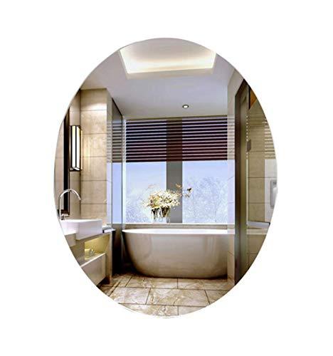 De la ejecución del espejo del cuarto de baño de la pared ovalada de los espejos del maquillaje |Espejo de afeitar y maquillaje de vanidad de pared |Espejo plano |Muebles de baño con espejo decorat