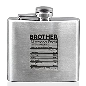 Pack of 1, Single-sided engraved, Product Size:1*4*3.8 in, 5 ounces Made from 304 (18/8) Stainless Steel,with a cap that screws on tight to avoid leakage, this flask is great for travel. It also features a waterproof, laminated design of your choosin...