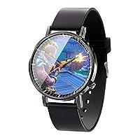 アニメゲーム、フォートナイトシリーズ、クォーツポインター時計ステンレススチールレザーストラップ時計ファッション時計ユニセックスボーイガールギフト-A1