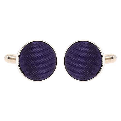 Boutons de Manchette Violet pour Homme - Accessoire Poignet Chemise et Veste de Costume - Mariage, Cérémonie