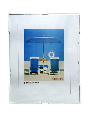 capestore Cornice a Giorno 50X70 con Lastra in Crilex e Retro in MDF per Stampe Puzzle Foto Poster Manifesti - Portafoto da Parete