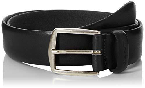 Gant Classic Leather Belt Ceinture, Noir (Black 5), 115 (Taille fabricant: 100) Homme