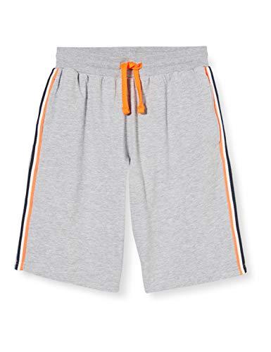 CMP - Pantalones Cortos para niño con Cintura elástica y Logotipo, Niños, Pantalones Cortos, 30D8224M, Grigio Mel, 152