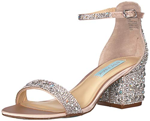 Blue by Betsey Johnson Women's SB-MARI Heeled Sandal, champagne, 7.5 M US