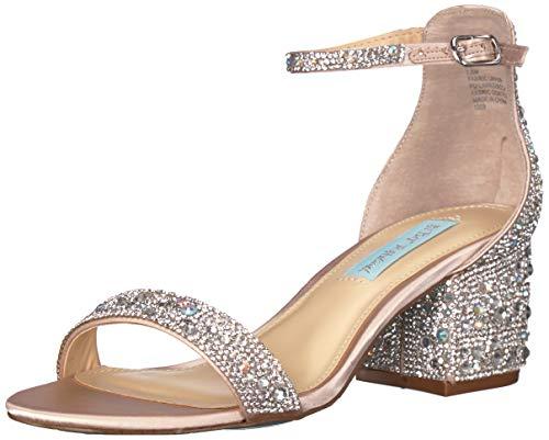 Betsey Johnson Blue Women's SB-MARI Heeled Sandal, Champagne, 8 M US