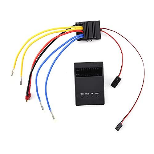 SODIAL Controlador de Velocidad ElectróNico de Doble Cepillado ESC Impermeable 80A ESC para Coches RC 1/8