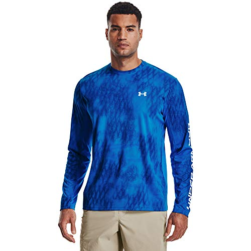 Under Armour Men's Iso-Chill Shore Break Camo T-Shirt , Blue Circuit (436)/Halo Gray , XX-Large