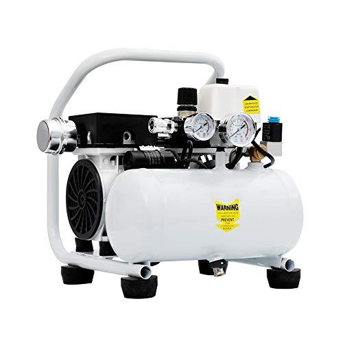 LeiQuanQuan Ultra-Quiet Oil-Free Air Kompressor, Kompressor Low Noise Mit Reinem Kupfer Motor Silent Type Air Compressor550W 5L for Mobile Garage, Dental Clinic
