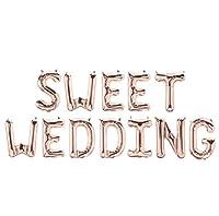 パーティーパーク SWEET WEDDING アルファベット バルーン ローズゴールド 結婚式 ウェディング 二次会 ハッピー ブライダル 飾り付け 装飾 デコレーション
