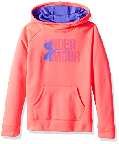 Under Armour Girls' Armour Fleece Big Logo Hoodie, Penta Pink , Youth Large