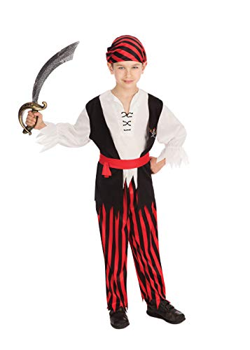 Bristol Novelty - Costume da pirata Jim, per ragazzo, CC629