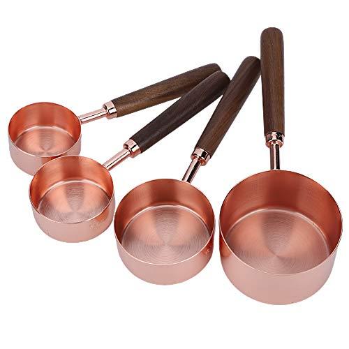 Ufolet Oro Rosa con Escala Utensilios de Cocina Cucharas medidoras, Utensilios Herramientas para medir, para cocinar y Hornear