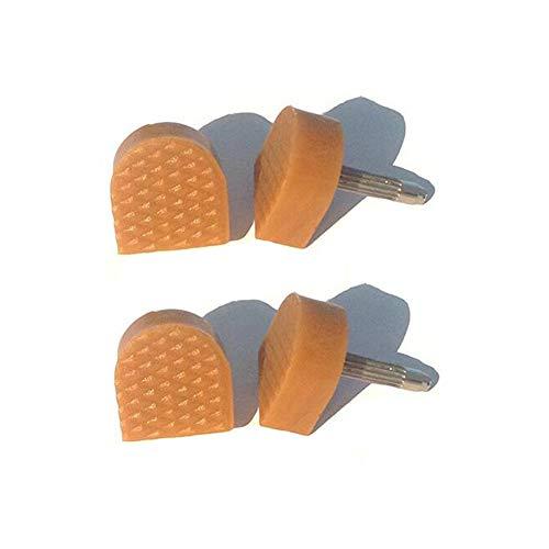 Set di 6 paia di scarpe con tacco alto a forma di U, colore beige, antiscivolo, per riparazioni, per donne e ragazze, con tacco alto (perni spessi 3 mm, 8 mm x 8 mm).
