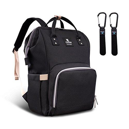 Hafmall Baby Wickeltasche Rucksack mit Kinderwagen Haken Multifunktional Reise Wickelrucksack Große Kapazität Babytasche