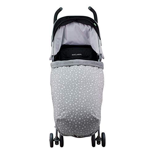 Janabebé Sacco coperta bambino copri piedi impermeabilizzato universale Maxi Cosi, Bugaboo, Maclaren, BabyBjörn, Chicco, Jane, Babby Jogger (WHITE STAR, PILE)