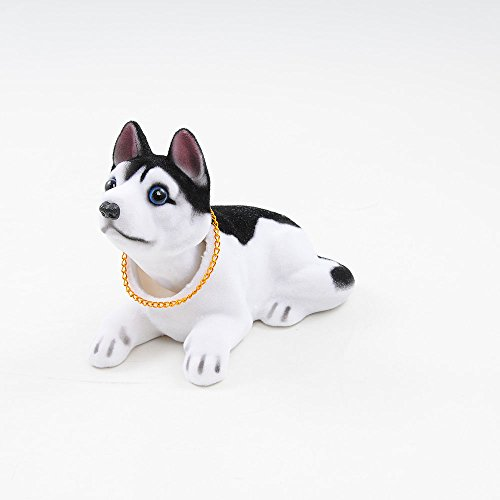 Ebow Dashboard Head Dogs Nodding Heads Car Dash Puppy for Car Vehicle Decoration (Huskies)
