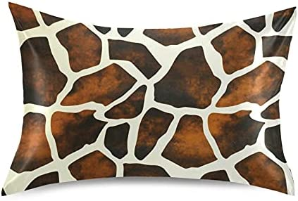 Ranking TOP17 TropicalLife Meetutrip Animal Ranking TOP10 Giraffe Print Satin Vintage Pillow