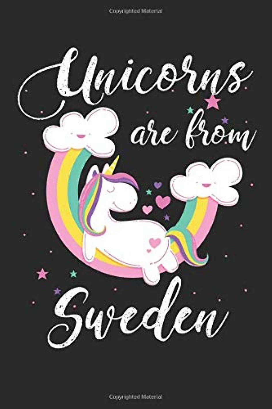 橋城通行人Unicorns Are From Sweden: A Blank Lined Unicorn Journal for Travelers or People From Sweden, Makes a Great Sweden Gift, Sweden Journal, Or Sweden Souvenir