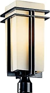 Kichler 49207BK Tremillo Outdoor Post Mount 1-Light, Black