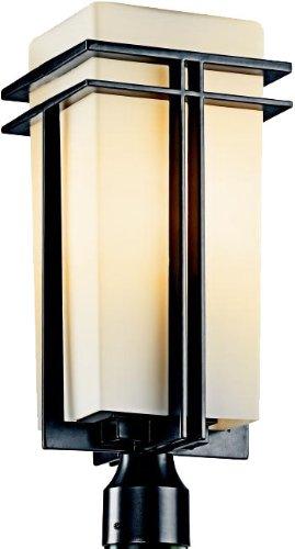Kichler 49207BK, Tremillo Aluminum Outdoor Post Lighting, 150 Total Watts, Black (Painted)