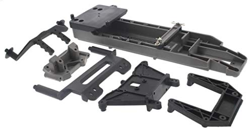 Traxxas 1/10 Stampede 2WD VXL Gray Chassis, Shock Towers, Body Posts & Bulkhead