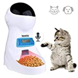 Iseebiz Automatic Cat Feeder 3L Pet Food Dispenser Feeder for Medium & Large Cat Dog——4 Meal, Voice Recorder & Timer Programmable, Portion Control