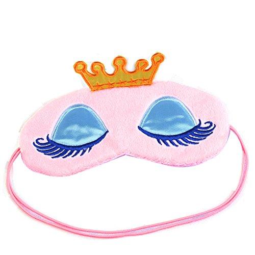 SA Crown Augenmaske Beschattung Rest Eyepatch mit verbundenen Augen Schild Reisen Schlaf-Beihilfen (Rosa)