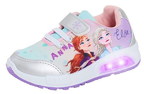 Disney Zapatos deportivos Elsa Anna con luces intermitentes para niñas Frozen...