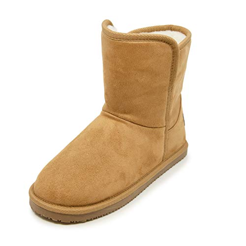 Nautica Women's Slippers Boot With Sherpa Fur Lining For Snow Winter - Warm Ankle Boot - Bruton-Tan-7