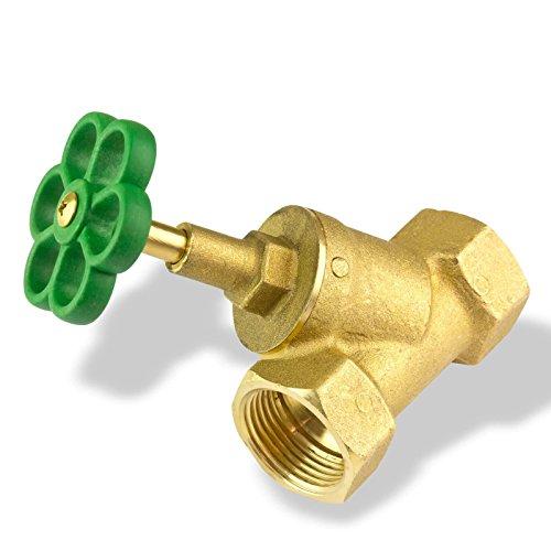 Stabilo-Sanitaer Schrägsitzventil 1 Zoll DN25 Absperrventil Messing Freistromventil Abstellhahn Absperrhahn Abstellventil Wasser