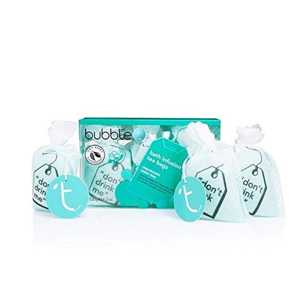 家庭教師君主惨めな[Bubble T ] バブルトン化粧品モロッコのミントティー風呂輸液トンバッグ - Bubble T Cosmetics Moroccan Mint Tea Bath Infusion T-Bags [並行輸入品]