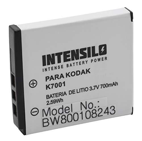 INTENSILO Li-Ion Akku 700mAh (3.6V) kompatibel mit Kamera Camcorder Jay-Tech Videoshot Full HD10 Ersatz für Klic-7001, DLi-213, VG0376122100001.